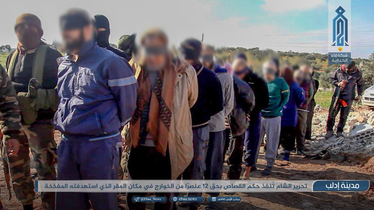 Following Idlib Bombing, Hay'at Tahrir Al-Sham Executes Twelve ISIS Members (Photos)