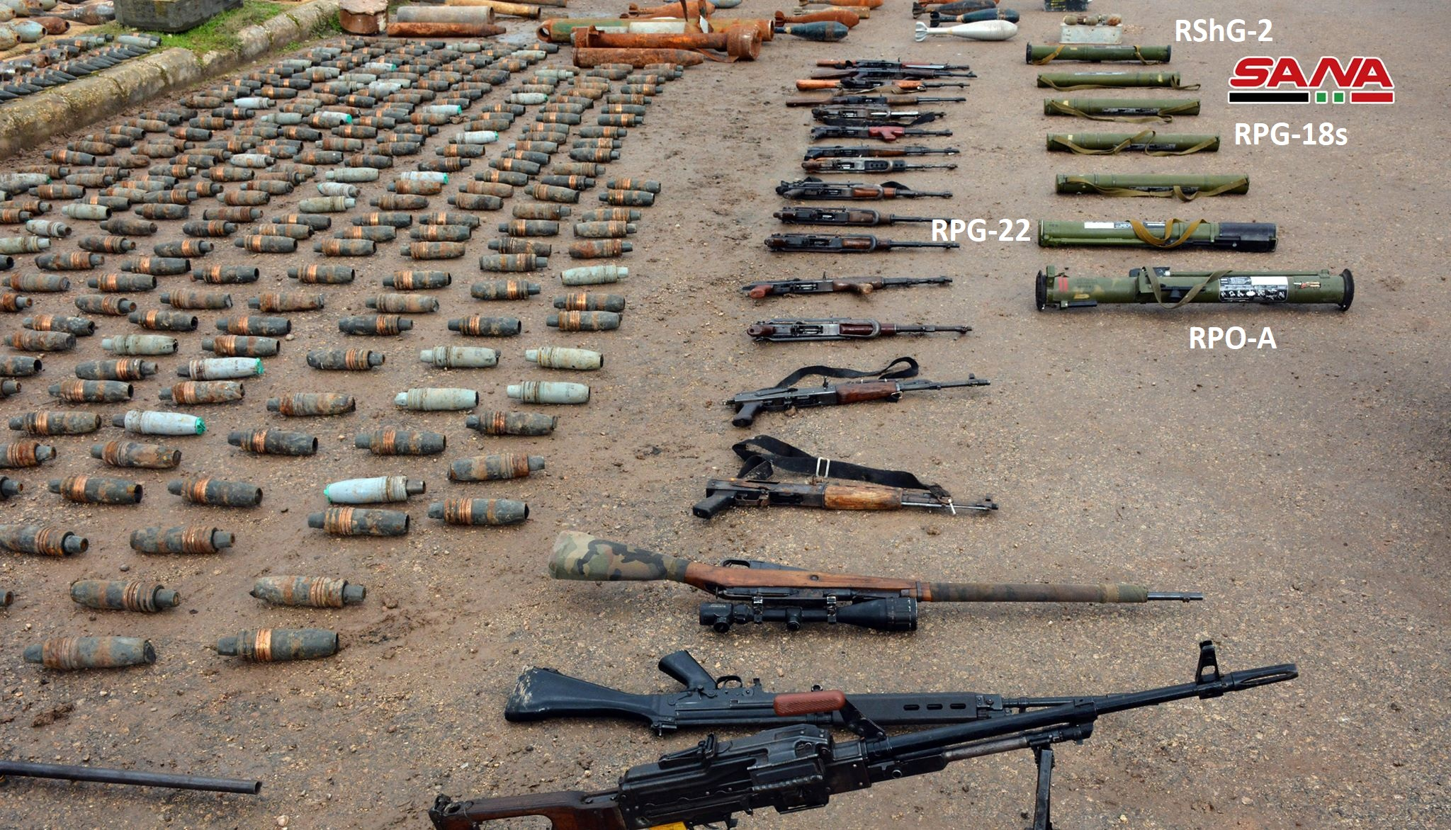 Syrian Army Discovers Anti-Tank Weapons And Loads Of Ammunition In Northern Homs (Video)