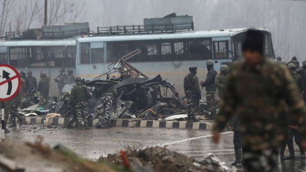 Suicide Bombing Kills At Least 40 Indian Security Personnel In Kashmir. India Blames Pakistan