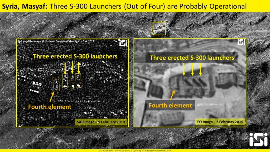 Sattelite Image Shows Three S-300 Launhers Are 'Probably' Operational In Syria's Masyaf
