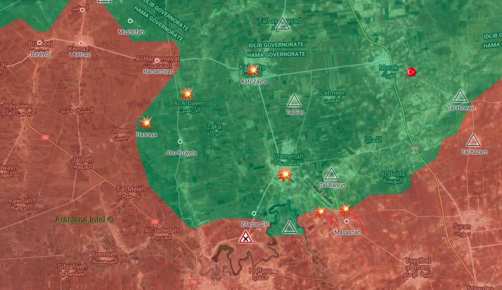 Map Update: Syrian Army Repels Jaish al-Izza Infiltration Attempt In Northern Hama