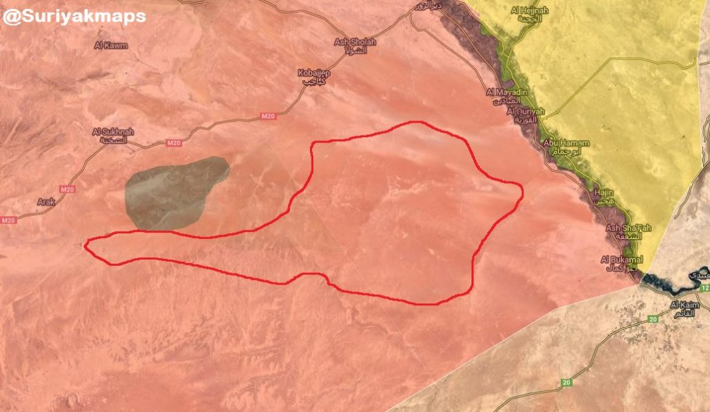 Map Update: ISIS Cells Still Control Large Part Of Homs-Deir Ezzor Desert Despite Recent Army Security Operation
