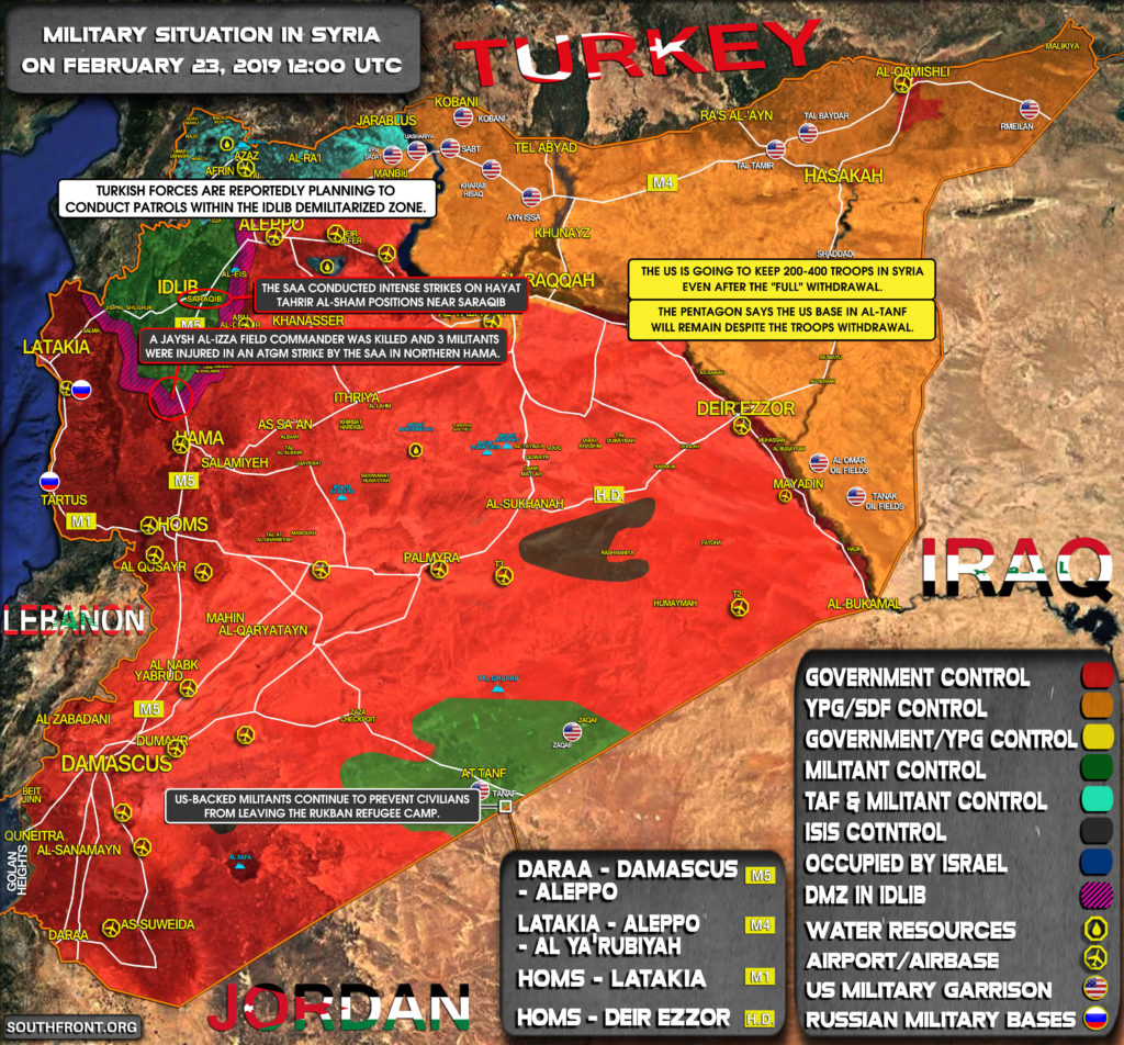 Military Situation In Syria On February 23, 2019 (Map Update)