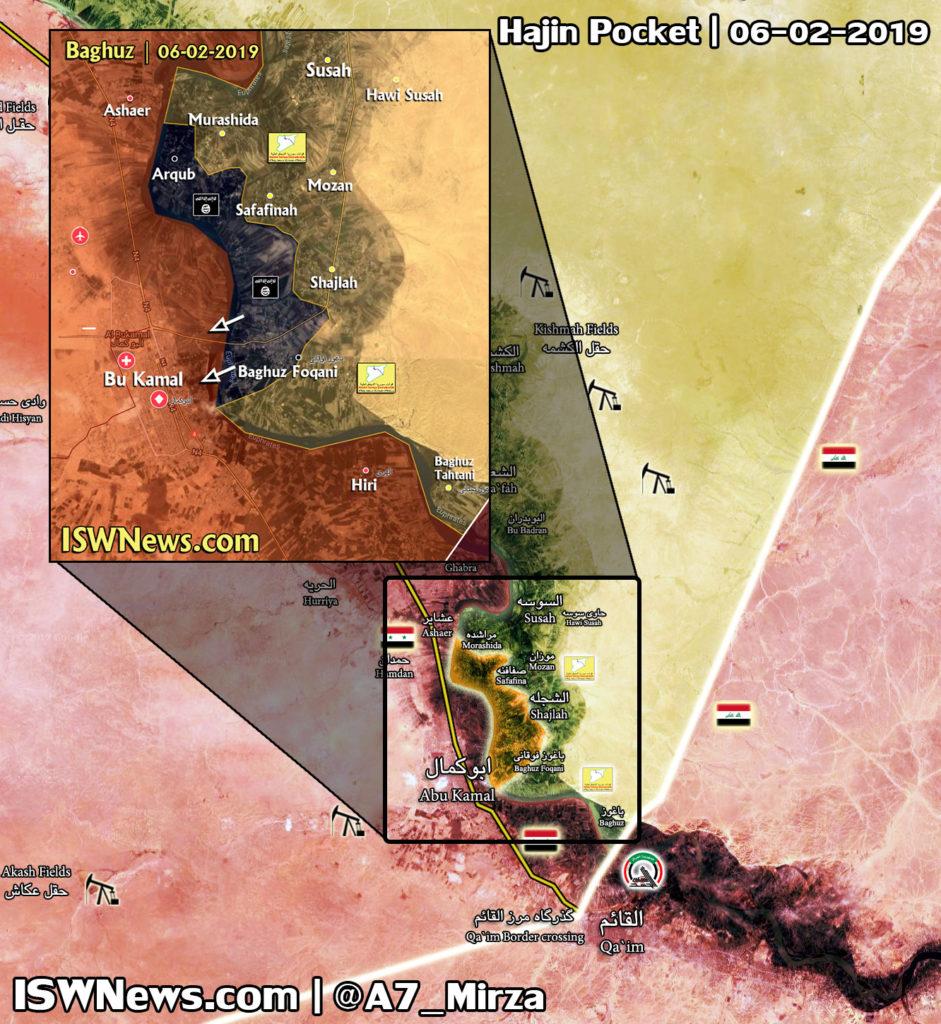 Map Update: US-backed Forces Launch Final Push To Eliminate ISIS Pocket In Euphrates Valley