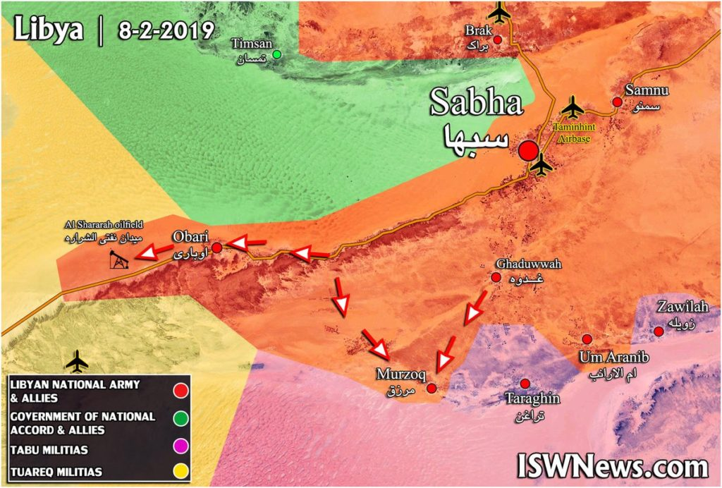 Libyan National Army Captures al-Shararah Oilfield, Nearby Points (Map Update)
