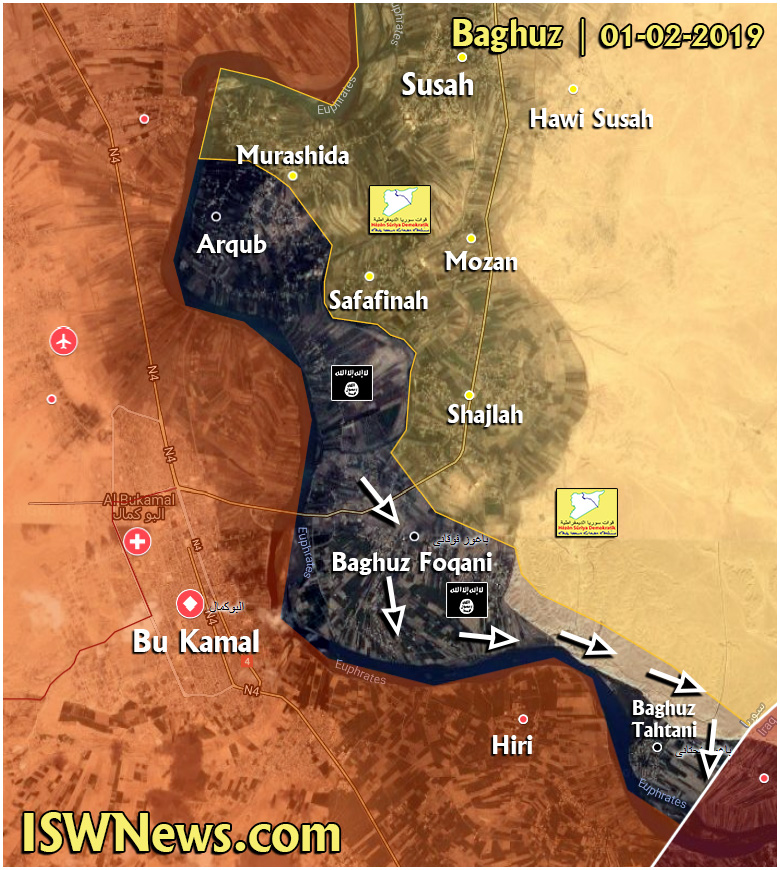 ISIS Terrorists Counter-Attack In Euphrates Valley In Attempt To Withdraw To Iraq (Map)