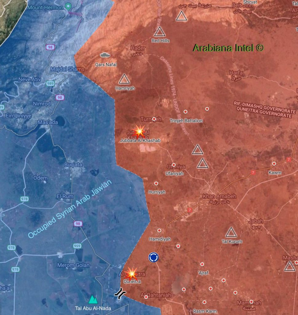 Israel Struck Syrian Army Positions In Quneitra Province, Near Golan Heights: Reports