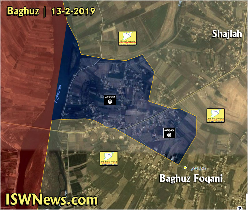 Map Update: ISIS-held Pocket In Euphrates Valley Shrinks Under Pressure Of US-backed Forces