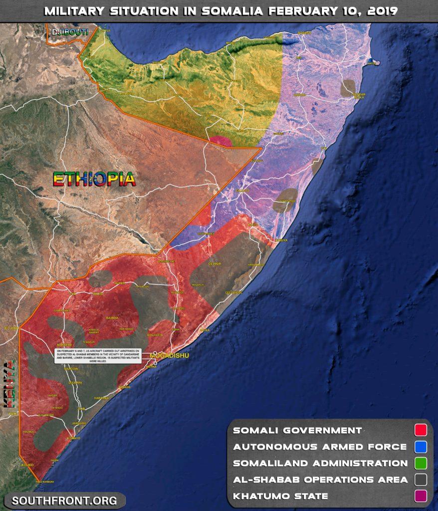 15 al-Shabaab Militants Were Killed In US Airstrikes In Somalia (Map Update)