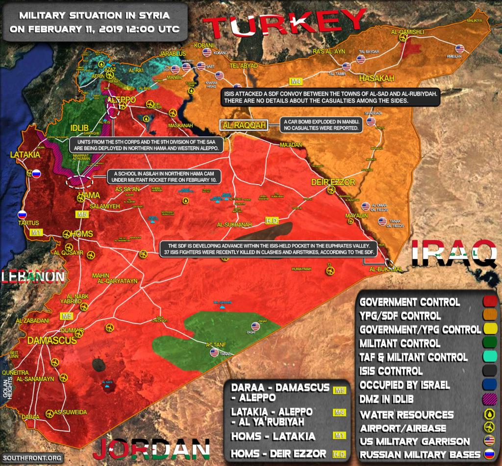Military Situation In Syria On February 11, 2019 (Map Update)