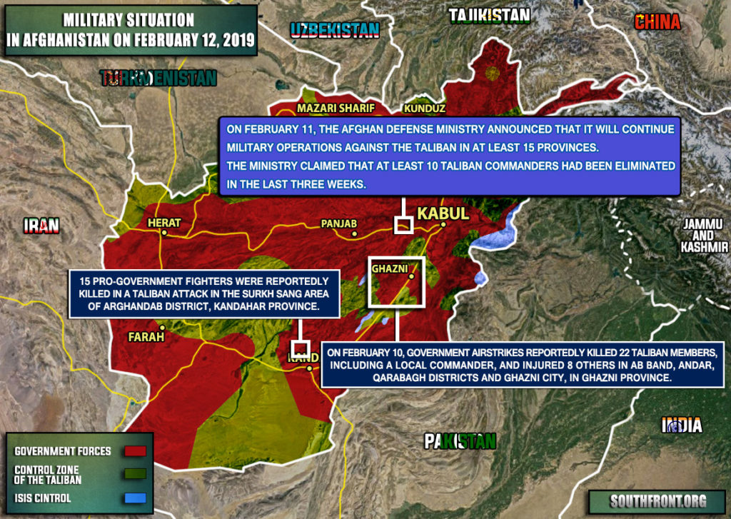 Military Situation In Afghanistan On February 12, 2019 (Map Update)