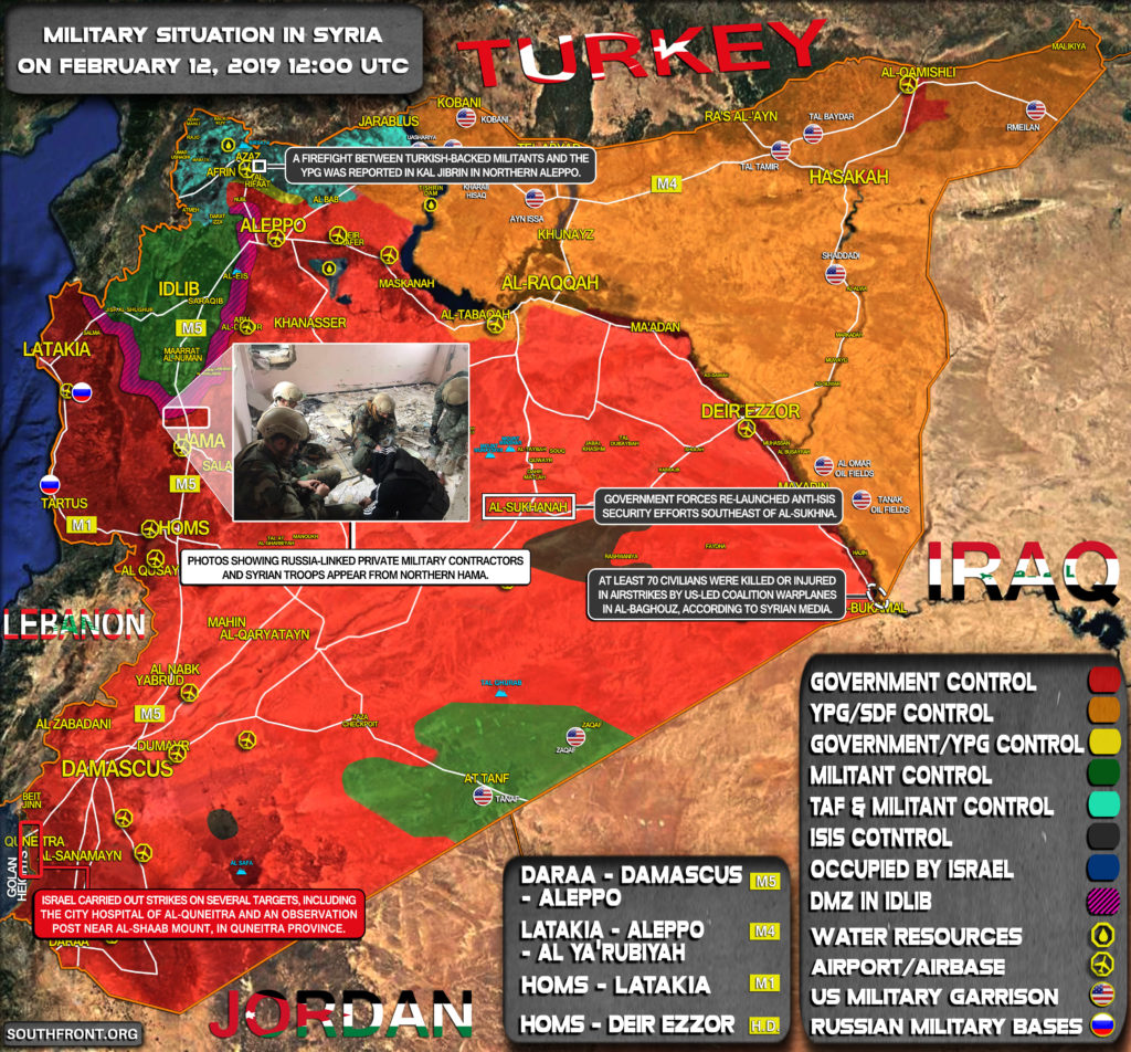 Military Situation In Syria On February 12, 2019 (Map Update)