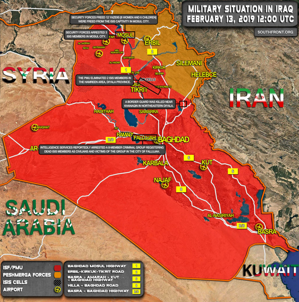 Military Situation In Iraq On February 13, 2019 (Map Update)