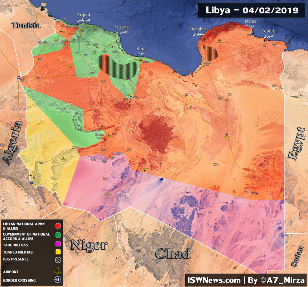 Map Update: Libyan National Army Makes Advances In Southern Part Of Country