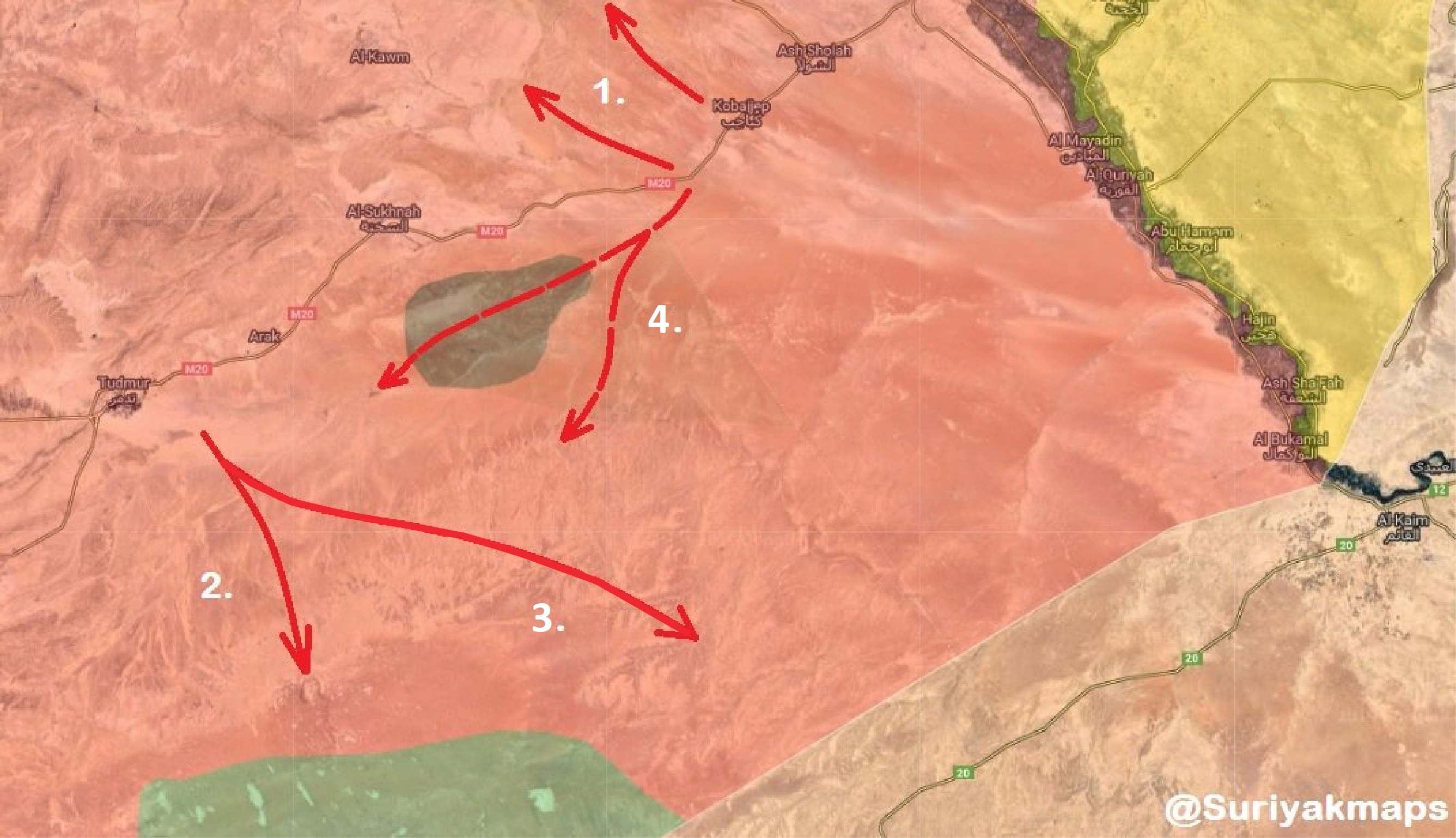 Syrian Army Launches Major Combing Operation Between Damascus, Deir Ezzor, Raqqa & Homs