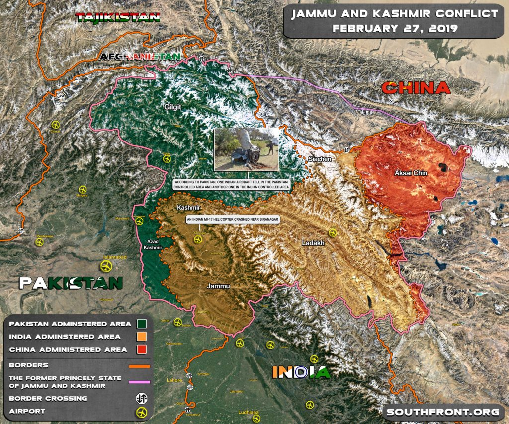 Brief Overview Of Pakistani-Indian Conflict On February 26-27 (Map)