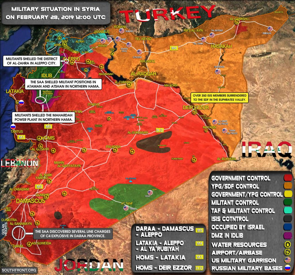 Military Situation In Syria On February 28, 2019 (Map Update)