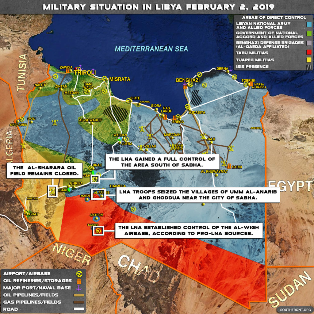 Military Situation In Libya On February 2, 2019 (Map Update)