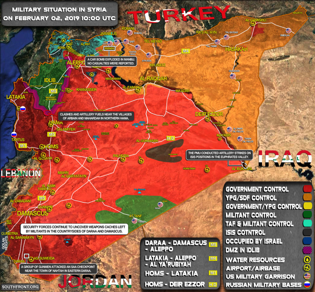 Military Situation In Syria On February 2, 2019 (Map Update)