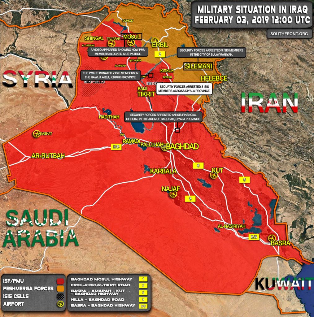 Military Situation In Iraq On February 3, 2019 (Map Update)