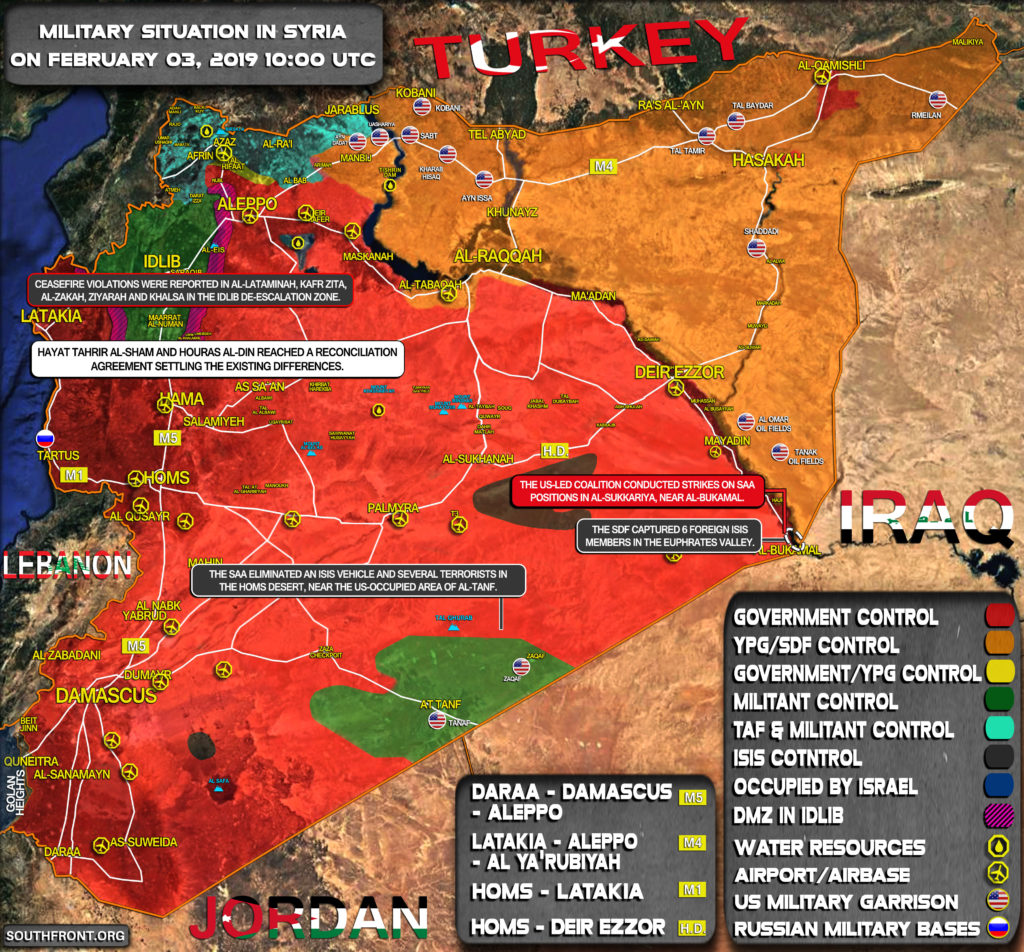Military Situation In Syria On February 3, 2019 (Map Update)