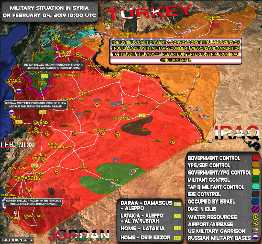Military Situation In Syria On February 4, 2019 (Map Update)