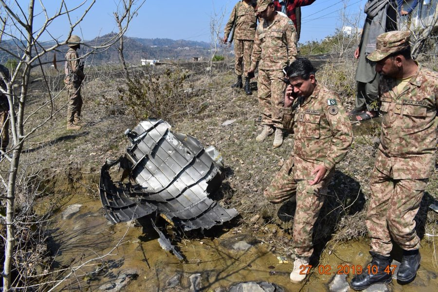 First Photos Showing Vestiges Of Downed Indian Aircraft Appear Online