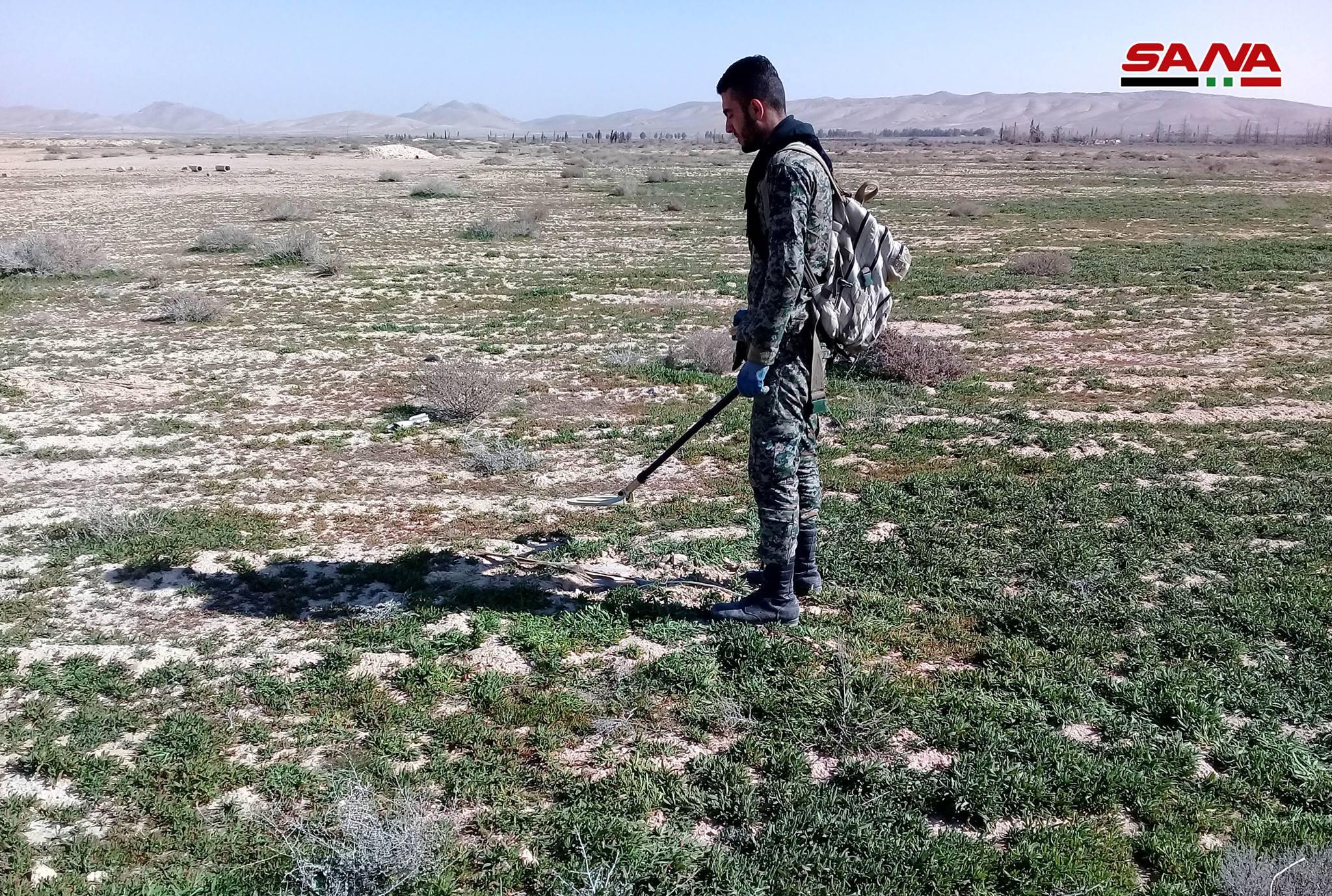 Syrian Sappers Clear ISIS Minefiled Near Palmyra (Photos)