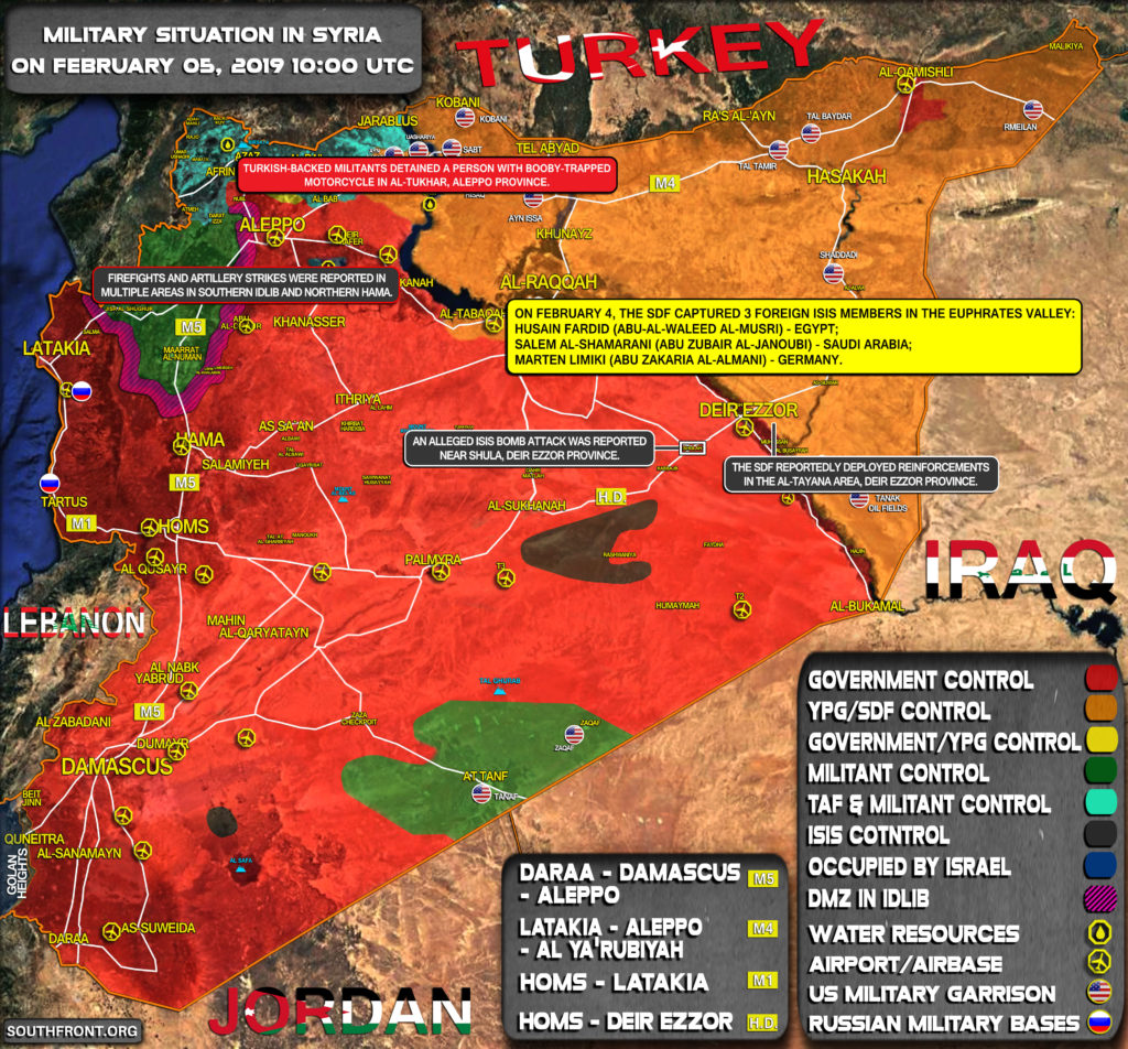 Military Situation In Syria On February 5, 2019 (Map Update)