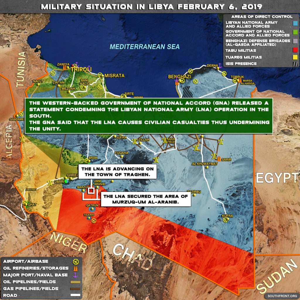 Military Situation In Libya On February 6, 2019 (Map Update)