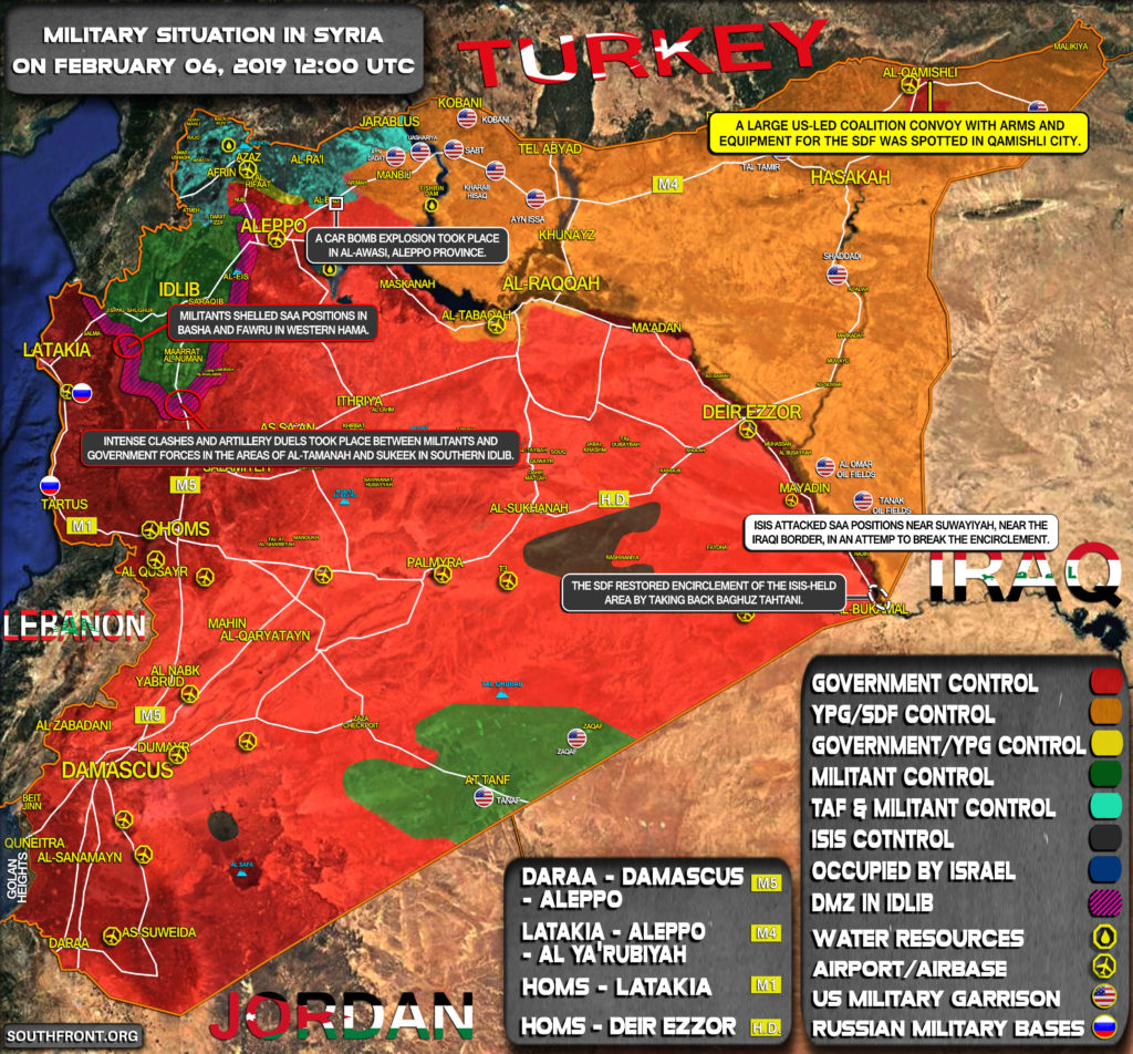 Military Situation In Syria On February 6, 2019 (Map Update)