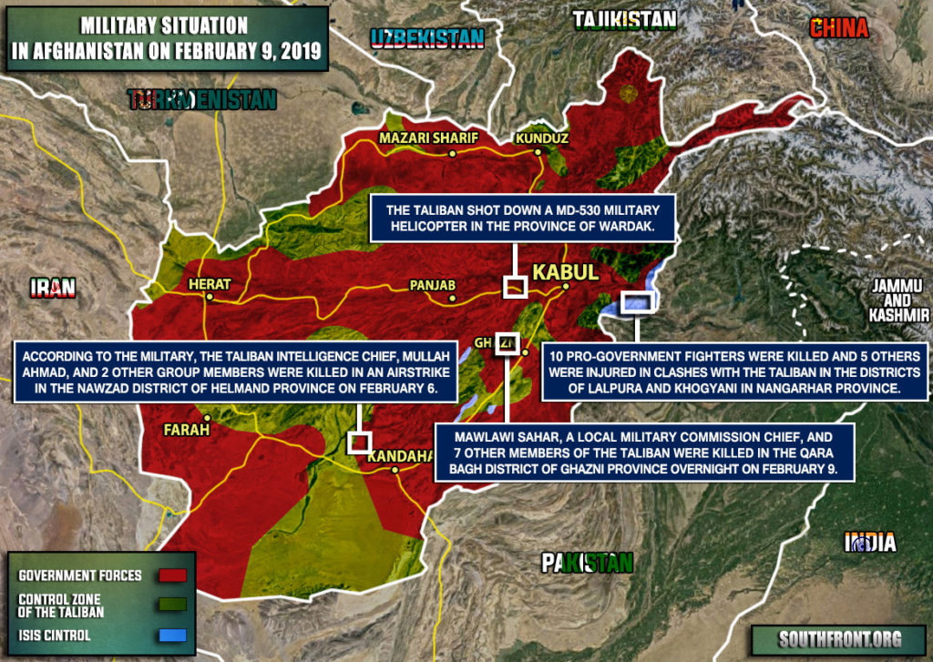 Military Situation In Afghanistan On February 9, 2019 (Map Update)