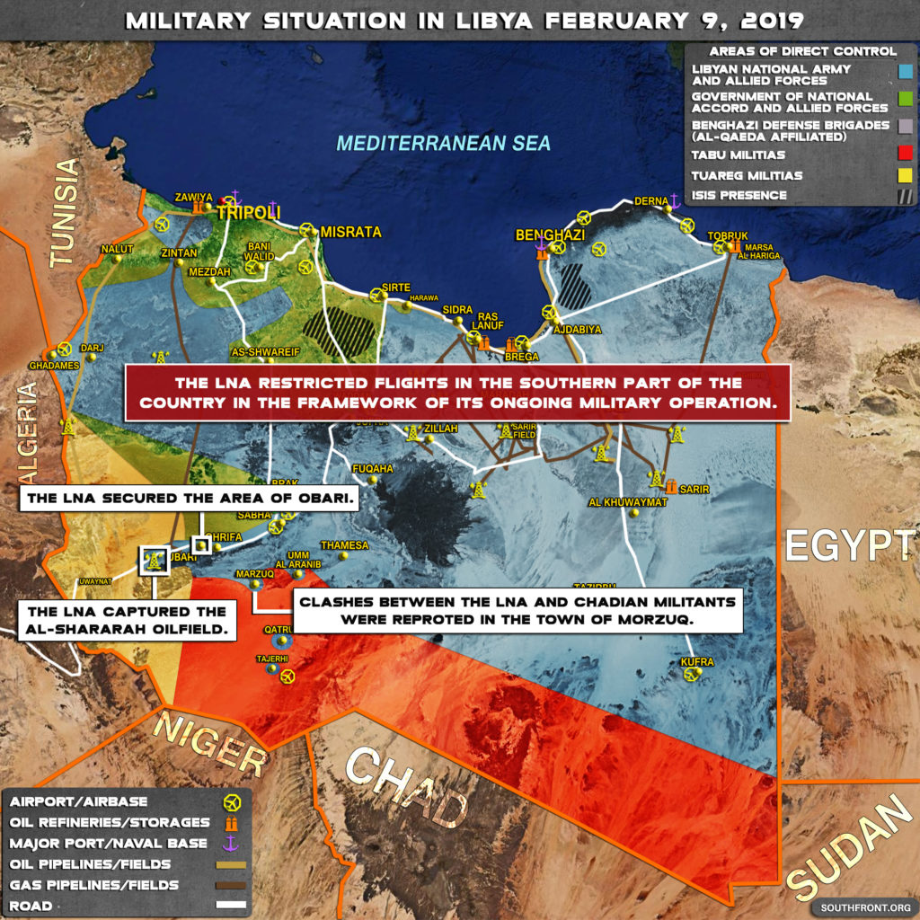 Military Situation In Libya On February 9, 2019 (Map Update)