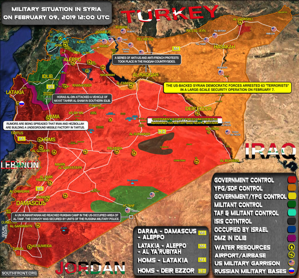 Military Situation In Syria On February 9, 2019 (Map Update)