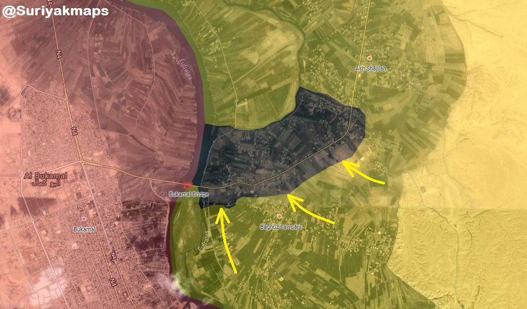 US-Backed Forces Advance Deep Inside ISIS-held Pocket In Euphrates Valley (Map)