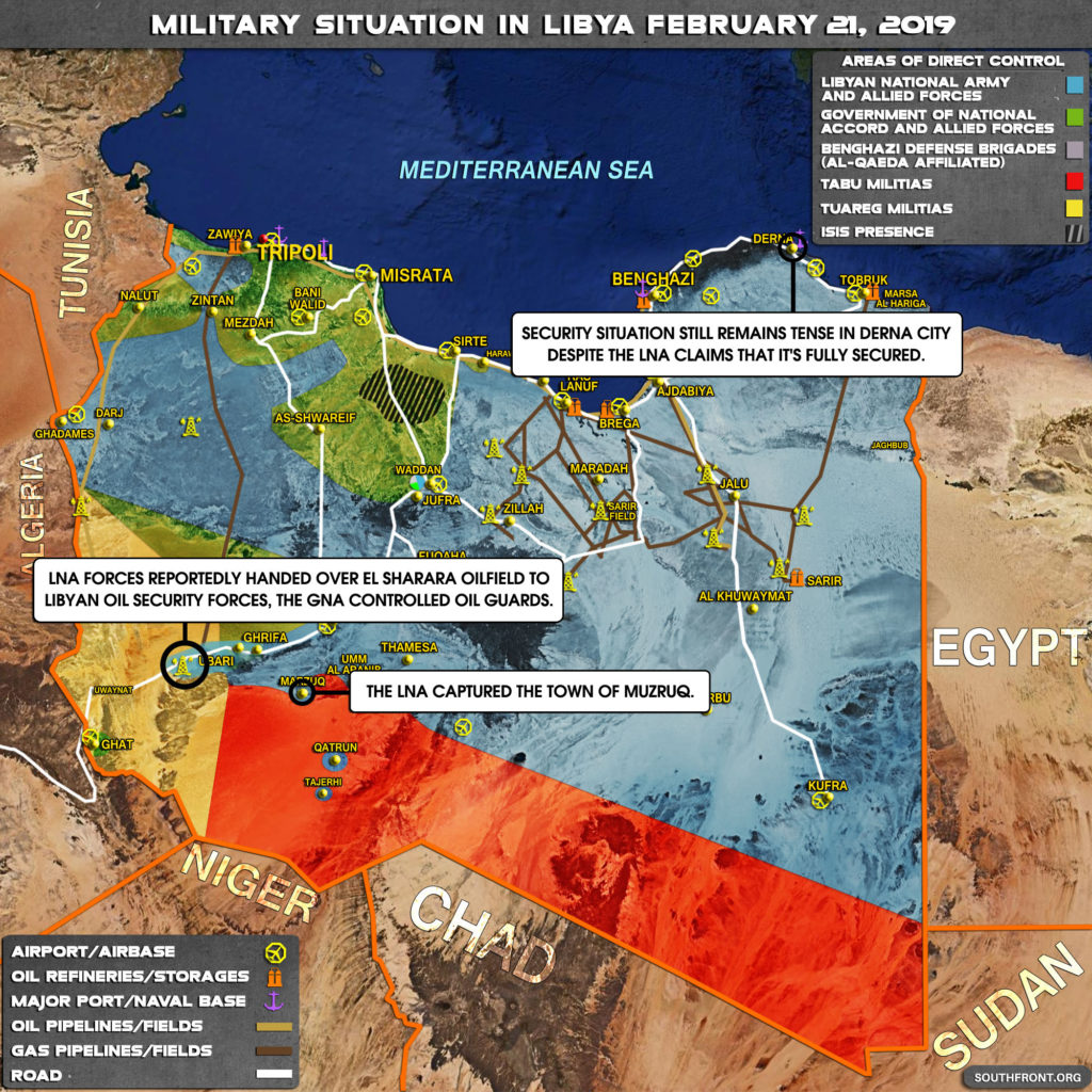 Libyan National Army Hands Over Control Of Key Oil Field To GNA Security Forces