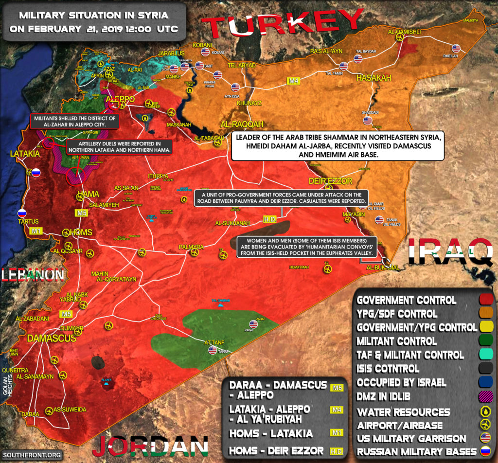 Military Situation In Syria On February 21, 2019 (Map Update)