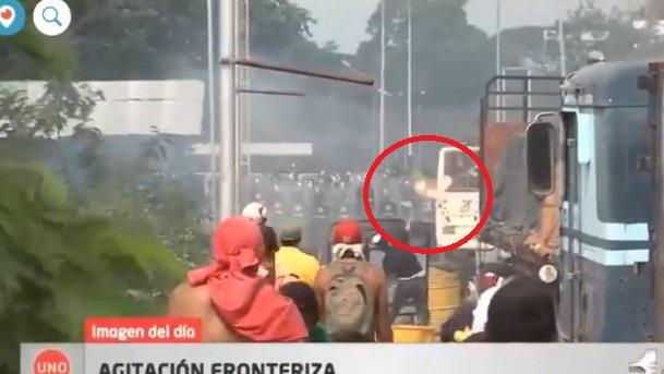 Video Shows Opposition Sets On Fire U.S. Aid Truck On Venezuelan Border. Washington Blames This On Maduro
