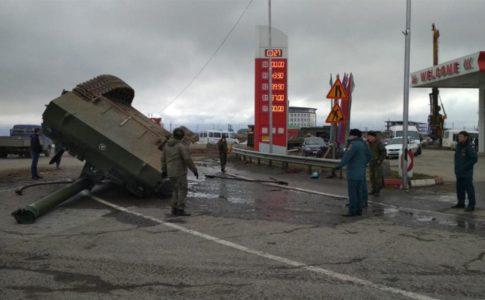 In Video: 2S7 Pion Self-Propelled Gun Flipped In Rusisa's Ingushetia Region