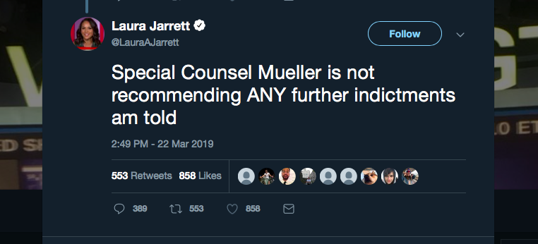 "Caitlin Johnstone: ""The Mueller Report Is In. They Were Wrong. We Were Right."""