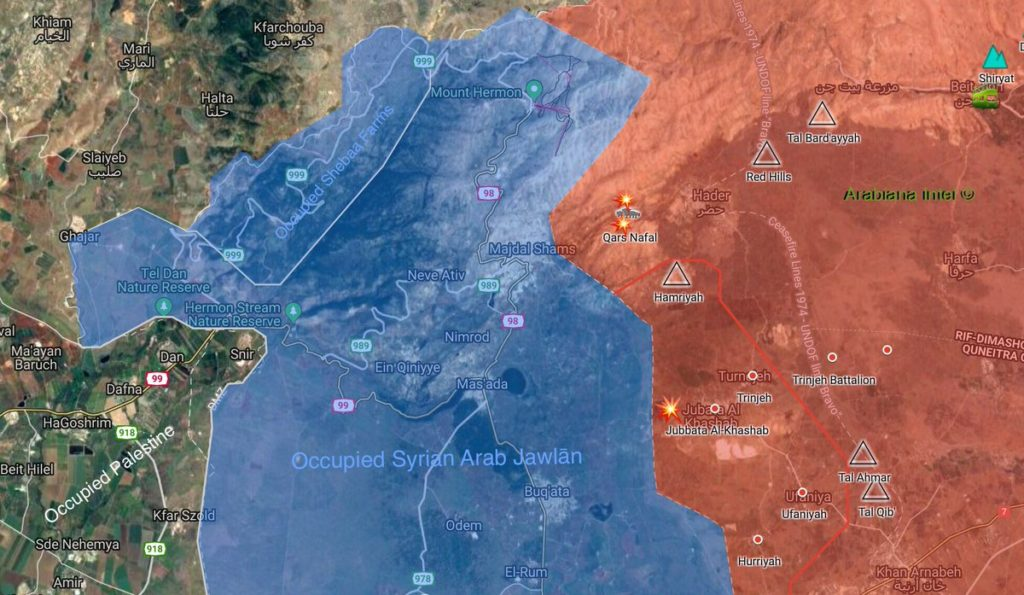 Map Update: Locations Of Israeli Strikes On Syria Late On March 3
