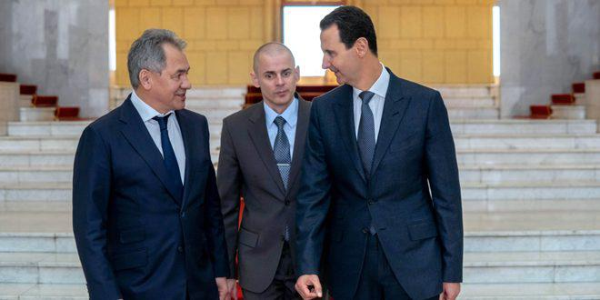 Russian Defense Minister Visits Syria To Meet President Assad