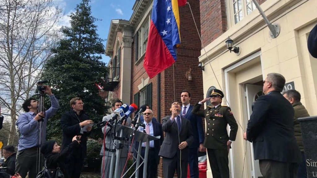 Venezuela Opposition Seizes Diplomatic Properties In US, Plans Embassy Takeover