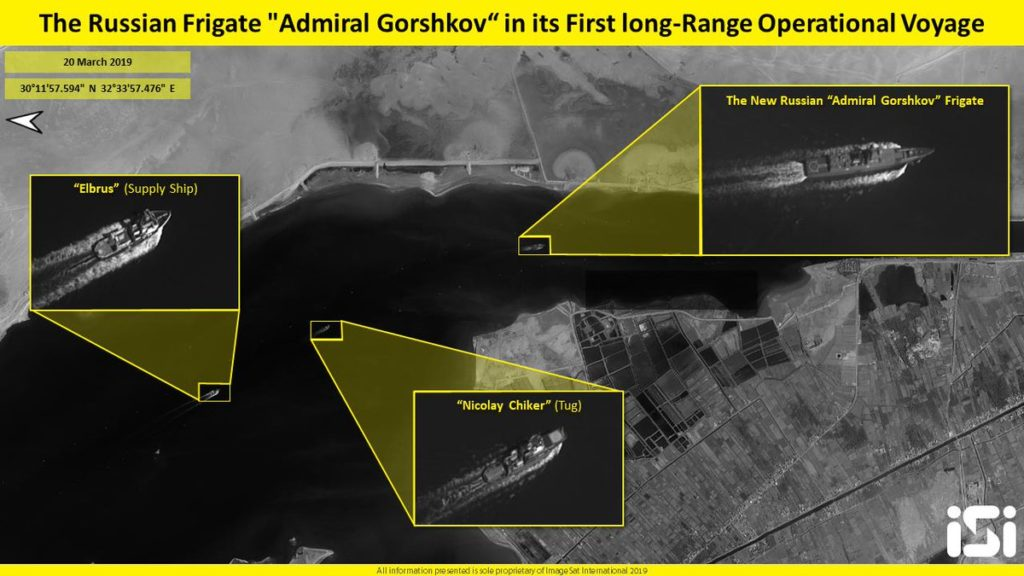 Russian Frigate Admiral Gorshkov Passes Suez Canal In Its First Long-Range Operational Voyage
