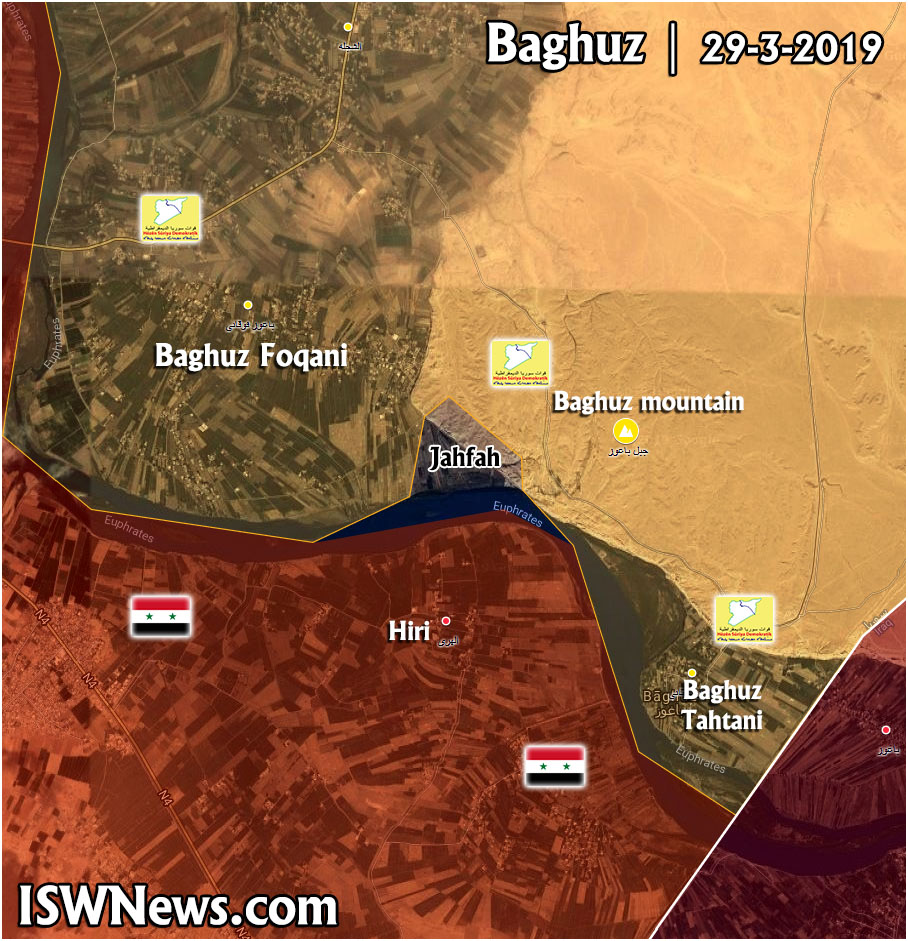 US-backed Forces Continue Security Operation Against ISIS Remnants In Euphrates Valley (Map)