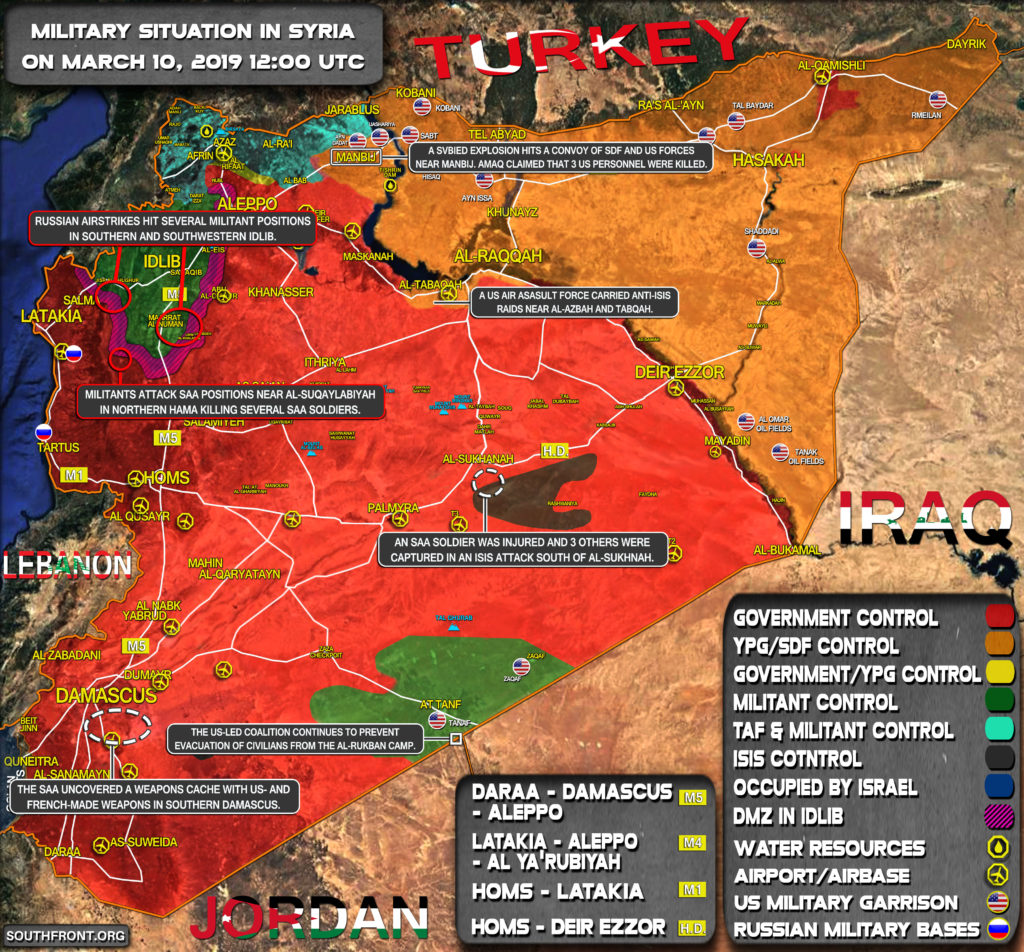 Map Update: Military Situation In Syria On March 10, 2019
