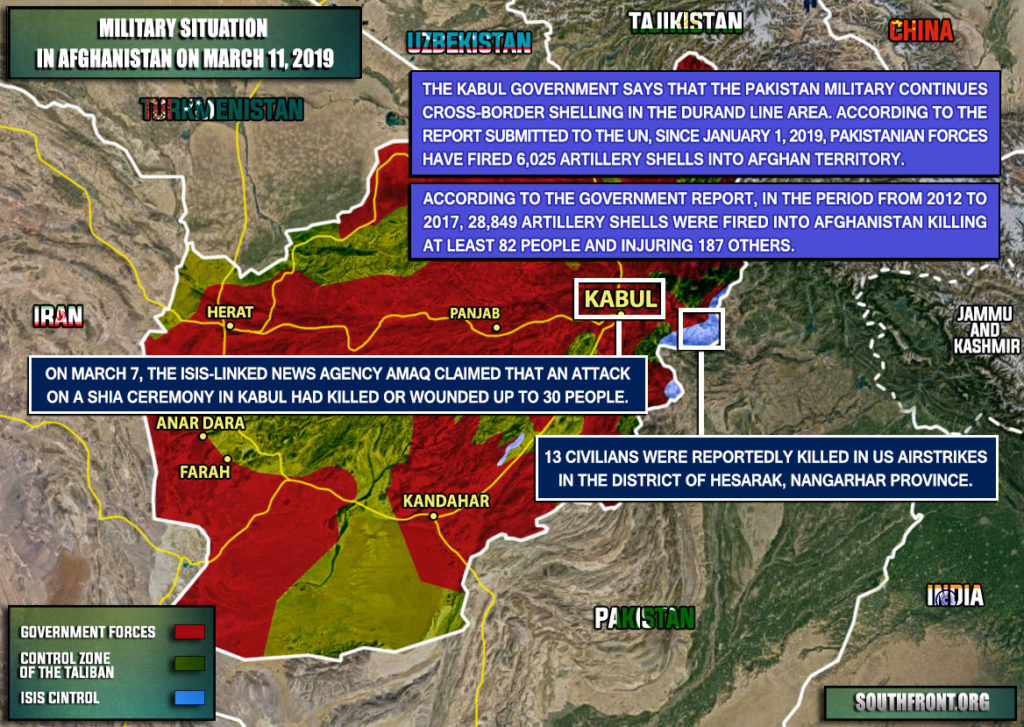 Military Situation In Afghanistan On March 11, 2019 (Map Update)