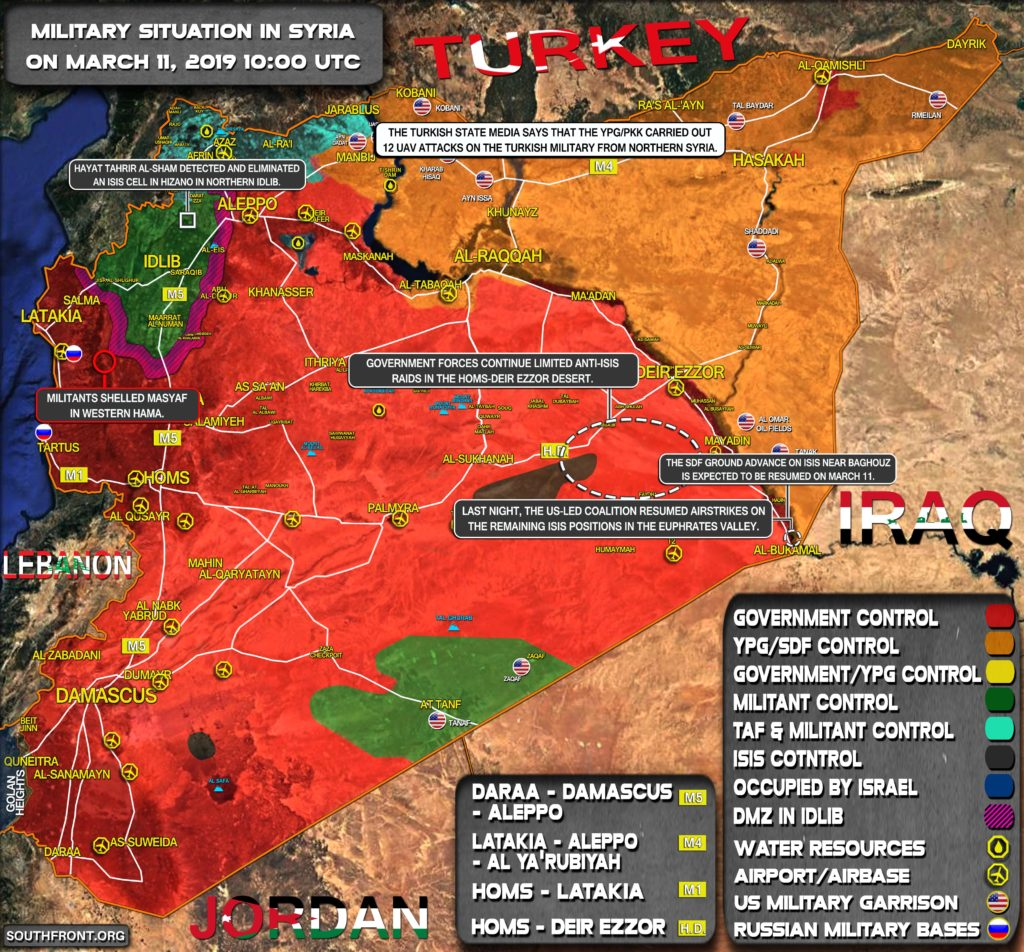 Military Situation In Syria On March 11, 2019 (Map Update)