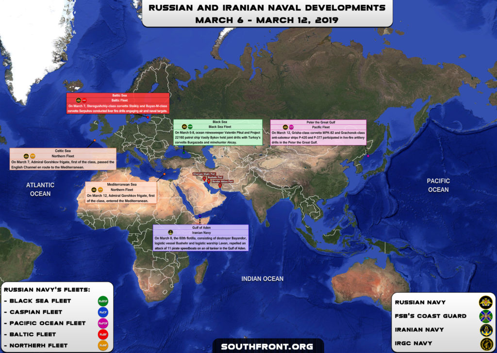 Iranian, Russian Naval Developments March 6-12, 2019 (Map Update)