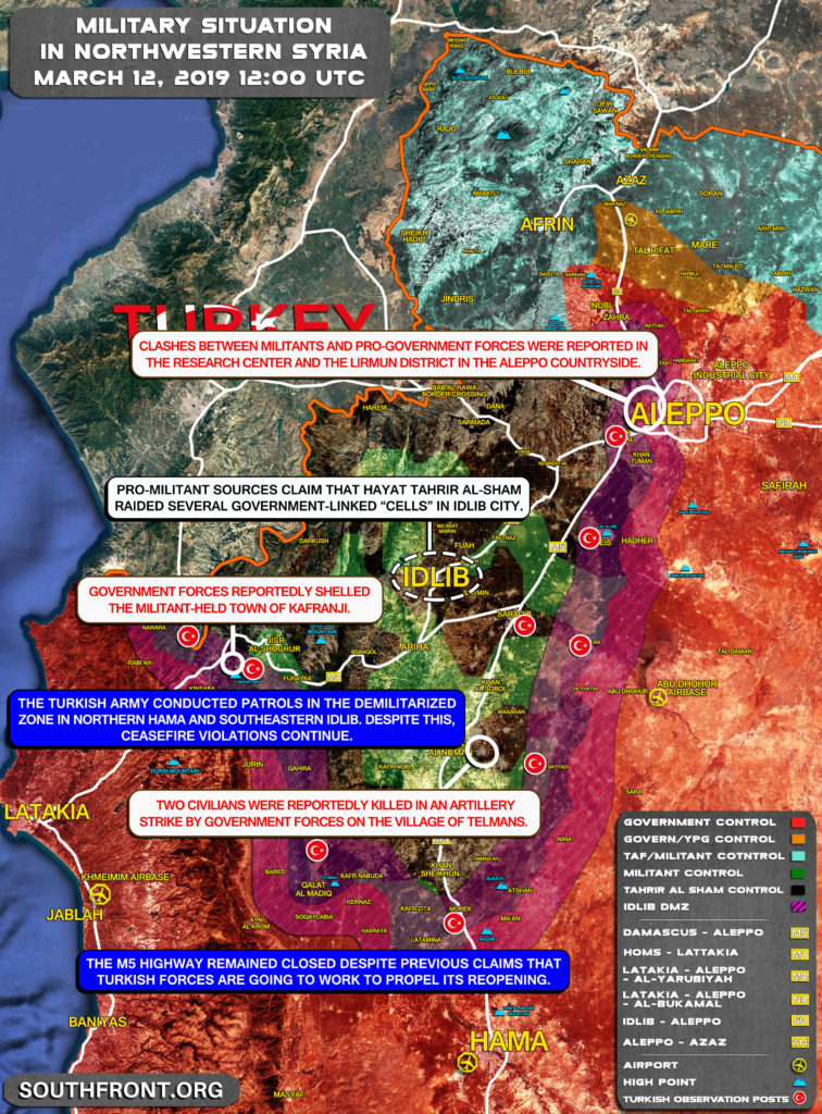 Militants Continue Attacking Syrian Army Positions Near Idlib Despite Turkish Patrols In Demilitarized Zone (Map)